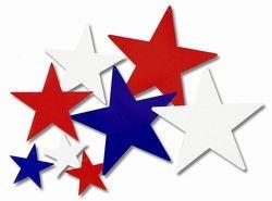 Patriotic Star Cutouts (9/pkg).