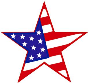 patriotic star.
