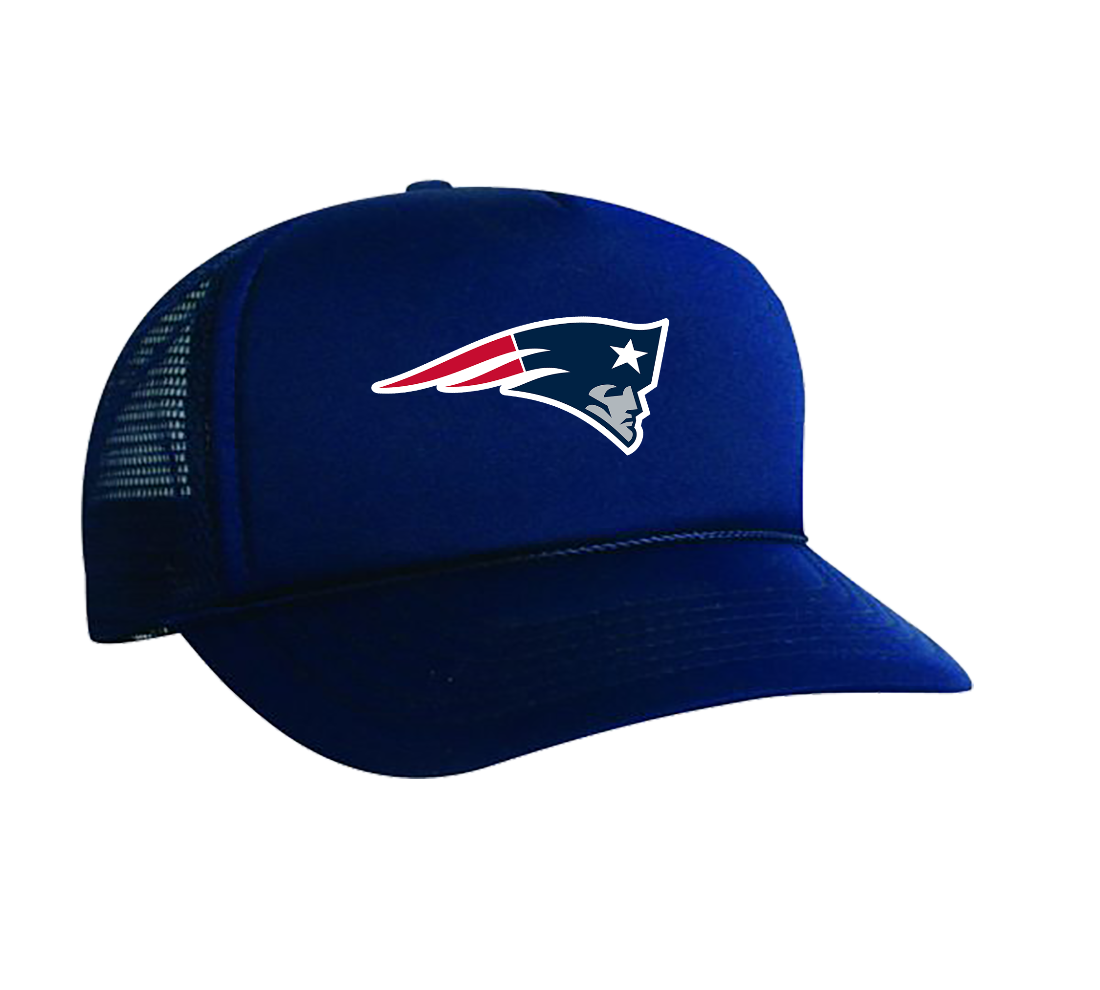 NFL PATRIOTS LOGO NAVY PRINTED HAT.