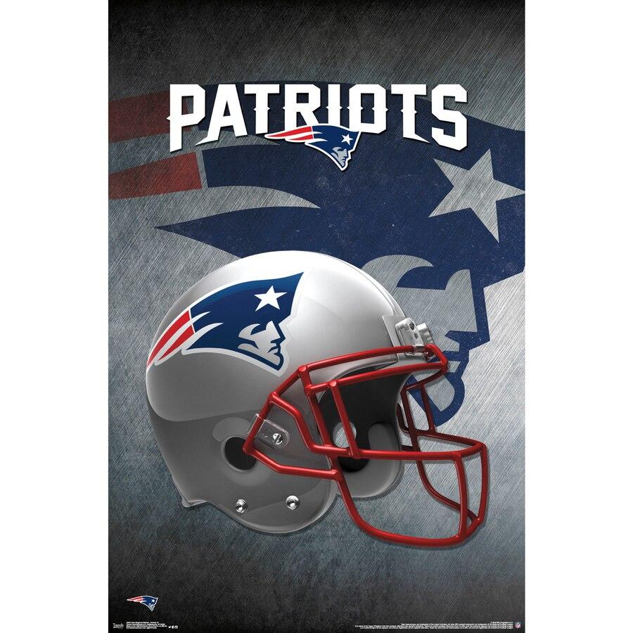New England Patriots Helmet 22\'\' x 34\'\' Logo Poster.