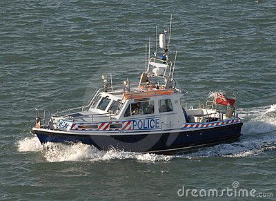Police Patrol Boat Editorial Photo.