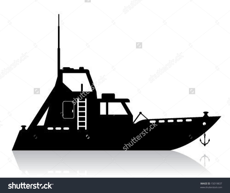Patrol Boat Icon Stock Vector 15019837.