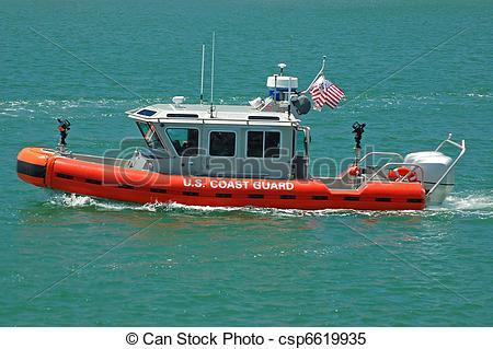 Stock Images of U.S. Coast Guard Patrol Boat.