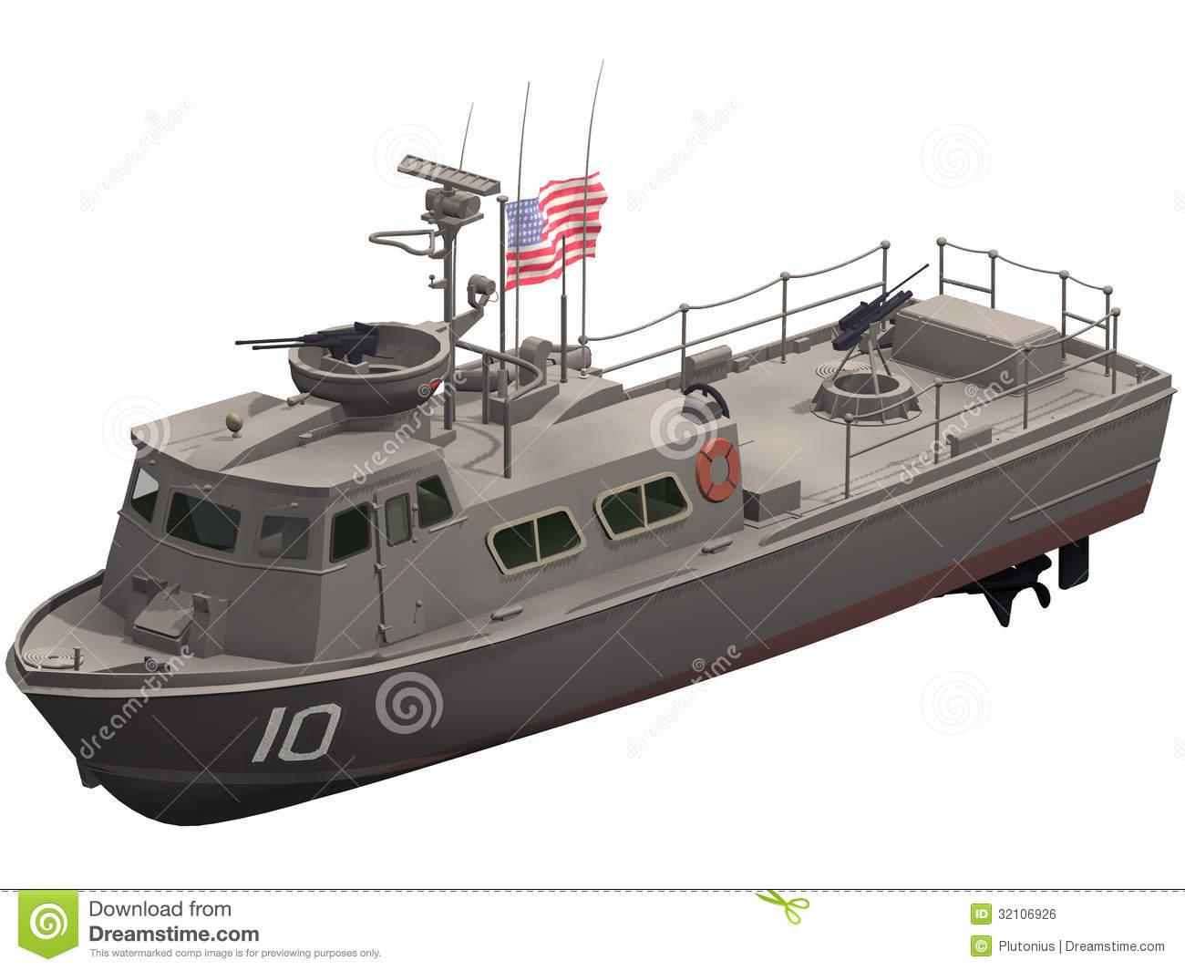 Patrol Boat Stock Illustrations.