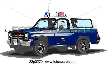 Clipart of beach patrol car 22p0270.