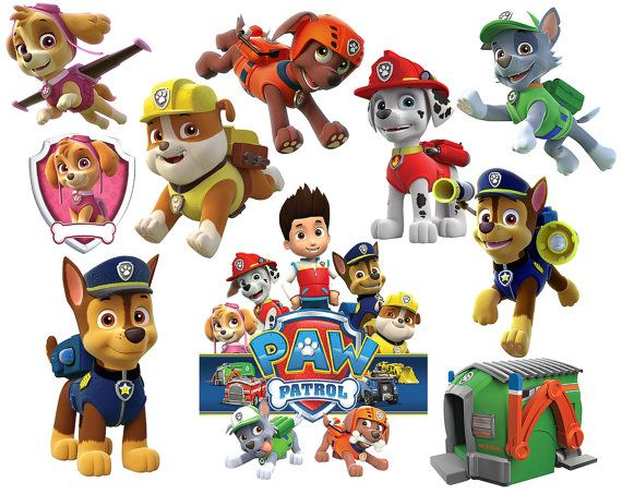 Paw Patrol Clipart Party Digital Clipart Printable Images.