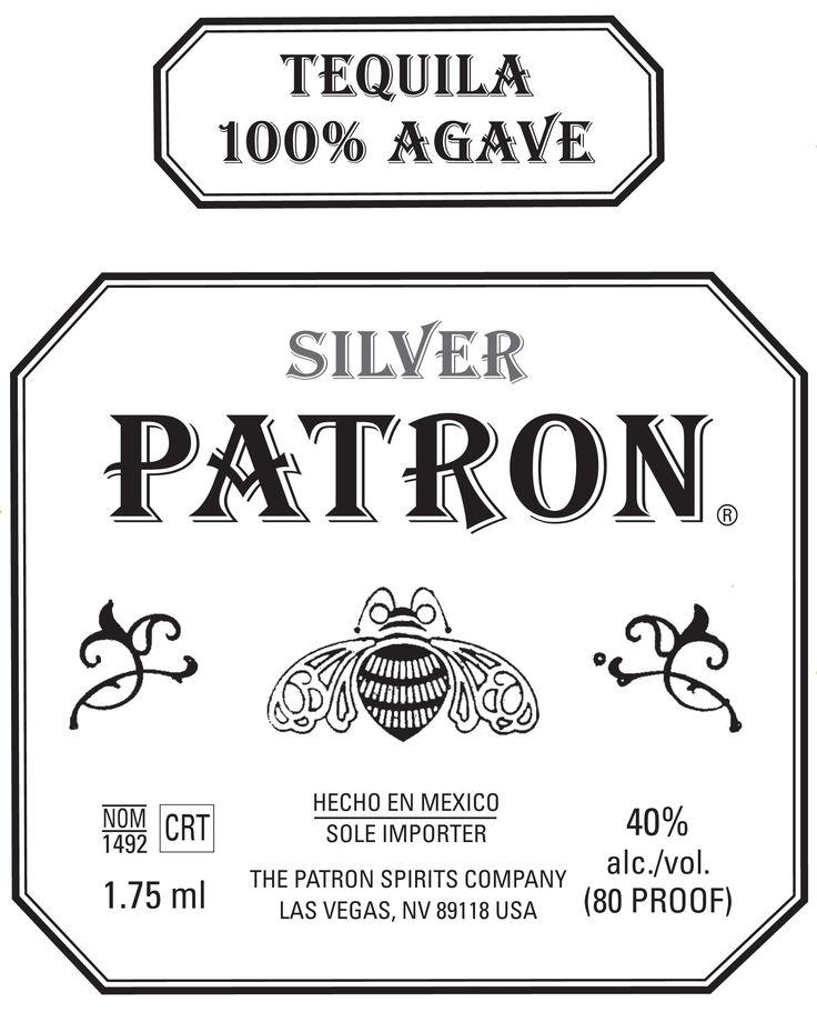 Patron Tequila Clipart.
