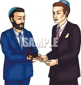 Rabbi Presenting a Gift to a Patron.