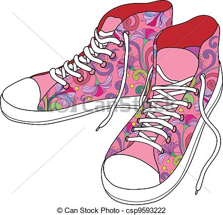 Vector Illustration of Gym shoes..