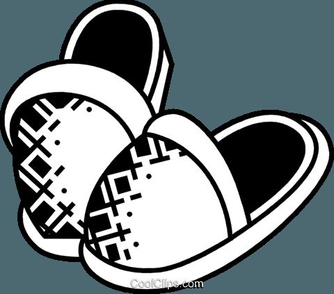 Slippers Royalty Free Vector Clip Art illustration.