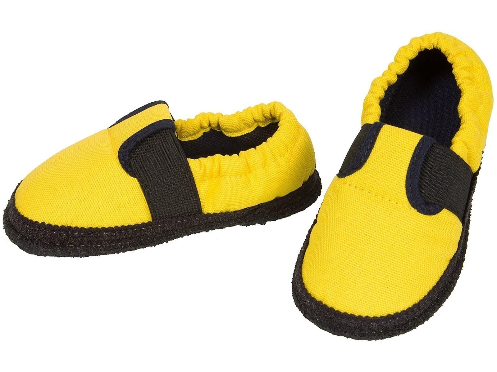 Kinder Hausschuhe Gelb, 23.