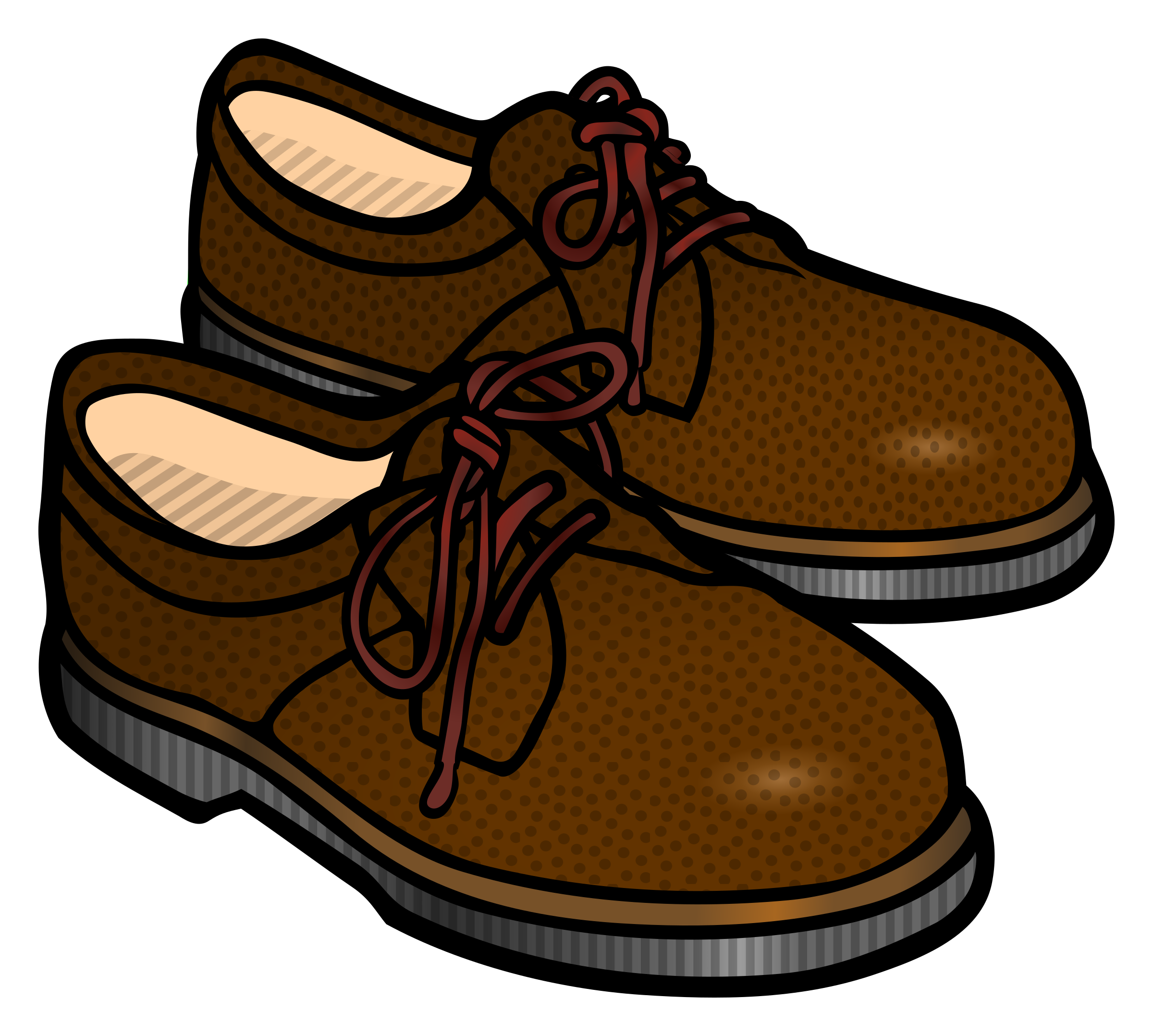 Clip Art Brown Shoes.