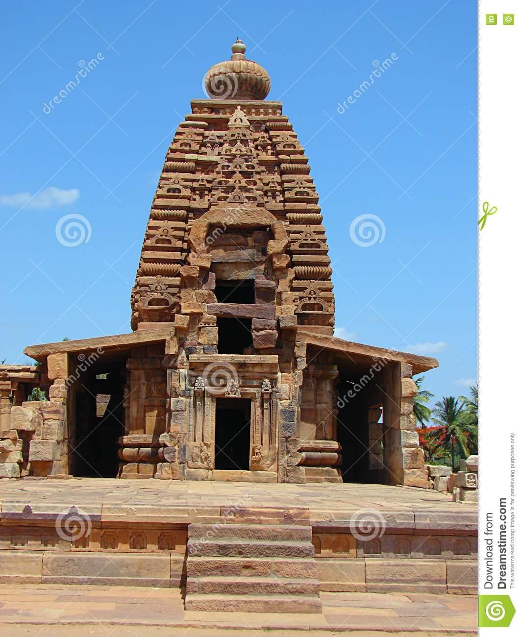 Galaganatha Temple, Pattadakal, Karnataka, India Stock Photo.