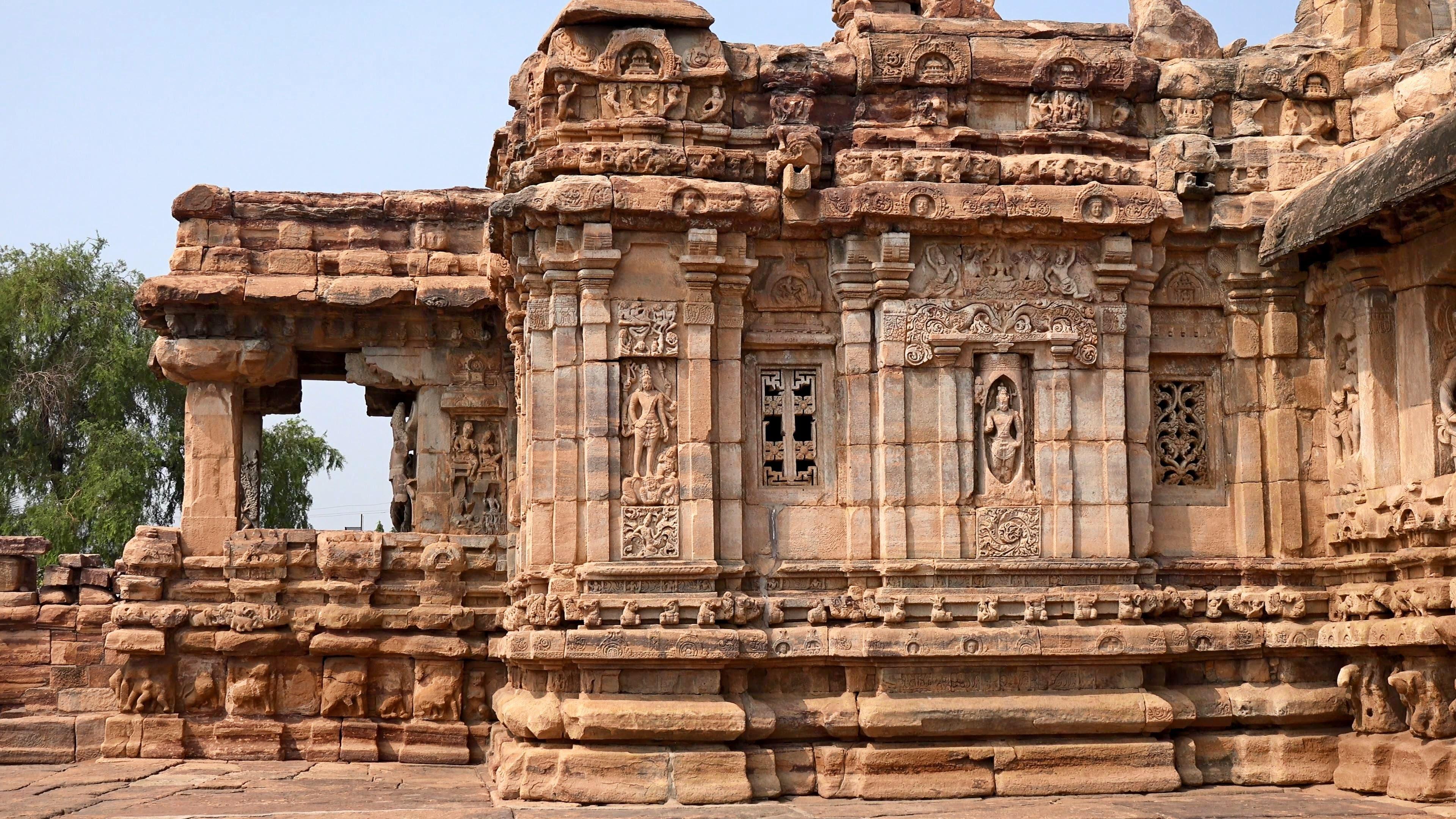 Monuments at Pattadakal and Aihole, Karnataka, India in 4K (Ultra.