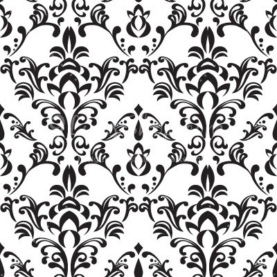 Bee Damask Pattern Clipart.