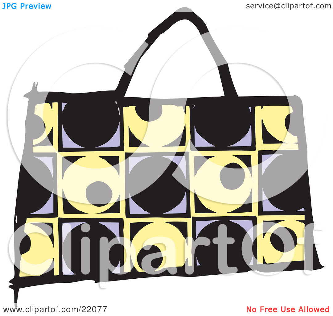 Clipart Picture of a Fashionable Black, Yellow And Purple Designer.