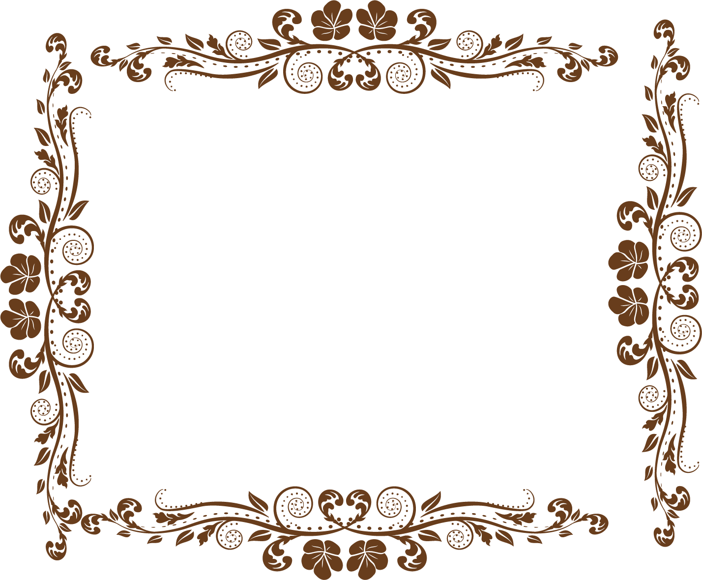 Pattern Border PNG Transparent Picture.