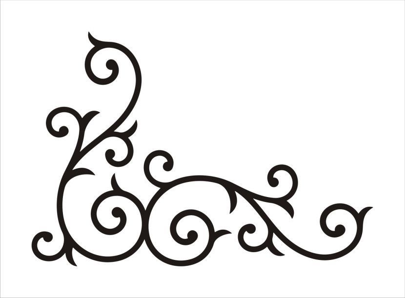 Corner Scroll Design Clipart Free Clip Art Images.