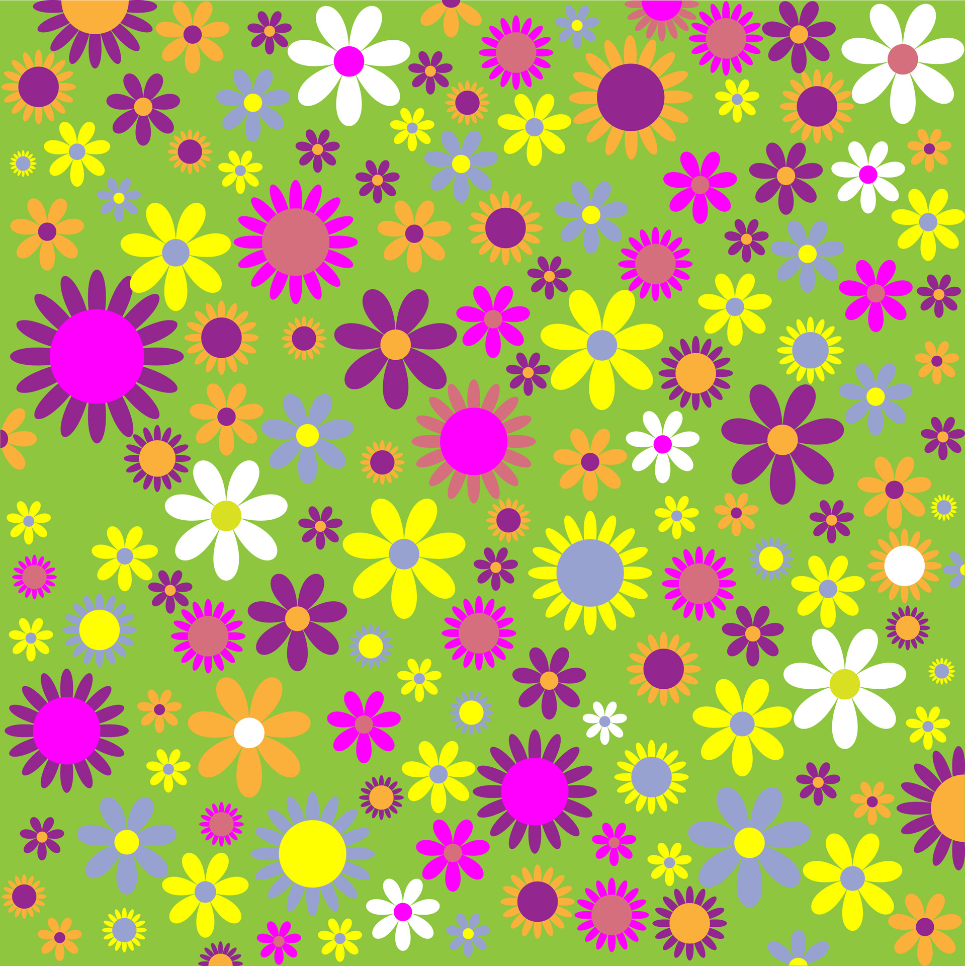 Floral Flowers Pattern Colorful Free Stock Photo.