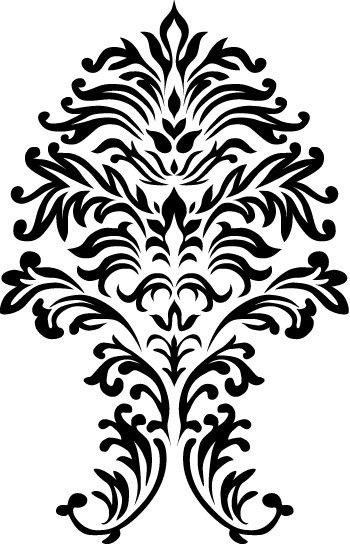 Free Vector: Seamless Floral Ornamental Pattern Clipart Picture.