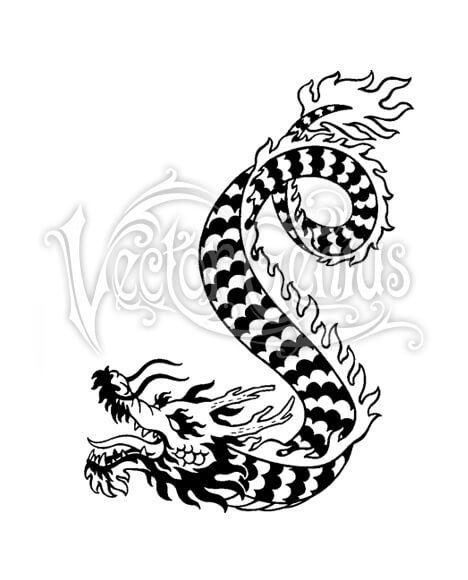 Vector Genius Pattern Dragon ClipArt.