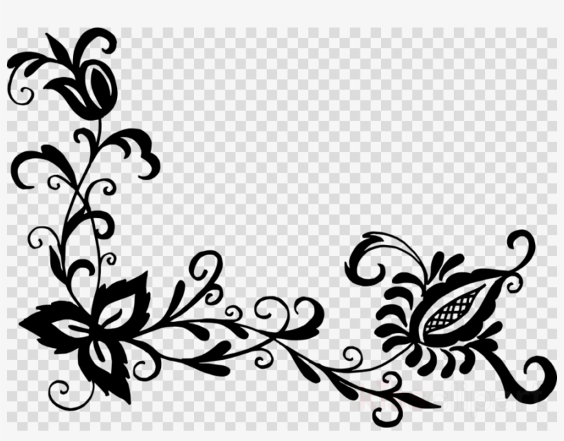 Black Flower Pattern Png Clipart Flower Designs Floral.
