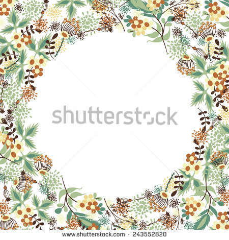 Floral Border Frame Patterned After 1895 Stock Photo 3220631.