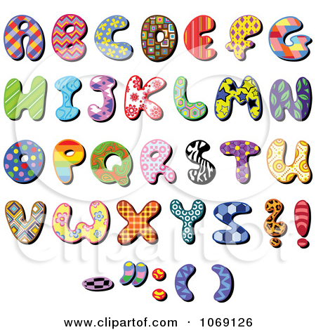 Clipart Patterned Capital Letters.