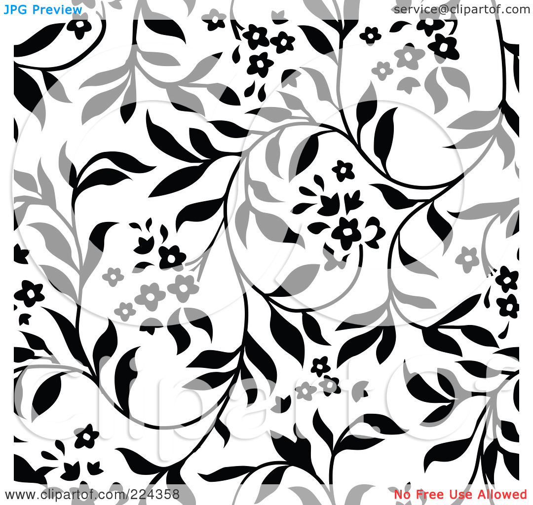 Black patterned clipart.