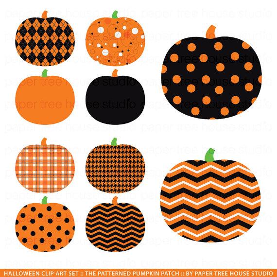 patterened pumpkin clipart