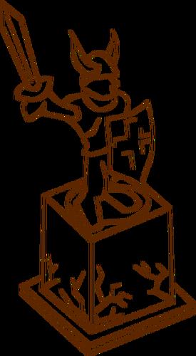 Vektor klip seni peran bermain permainan peta ikon untuk patung.