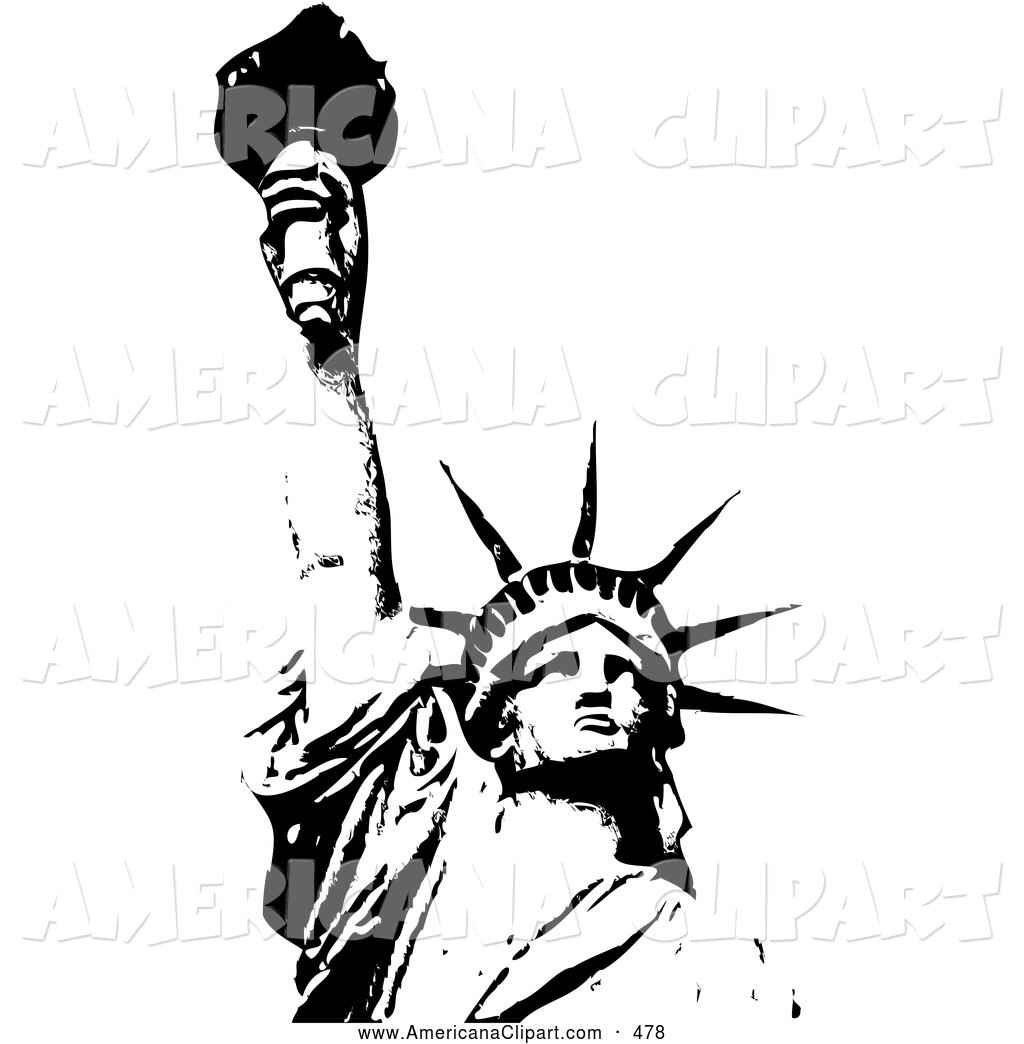 Small Liberty Bell Statue Of Liberty White House Patriotic Clipart.
