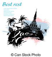 Patuxai Vector Clip Art Illustrations. 8 Patuxai clipart EPS.
