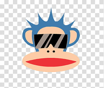 PAUL FRANK , monkey wearing sunglasses illustration.