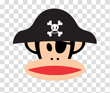PAUL FRANK , Monkey Pirate transparent background PNG.