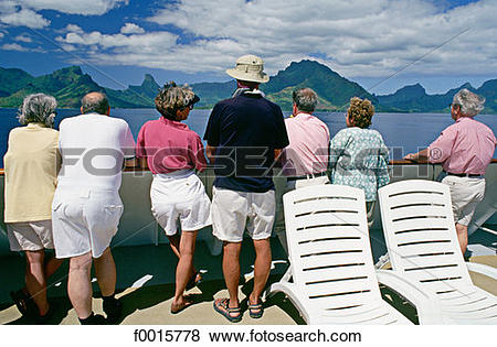 Pictures of French Polynesia, Windward Islands, cruise on M.S..