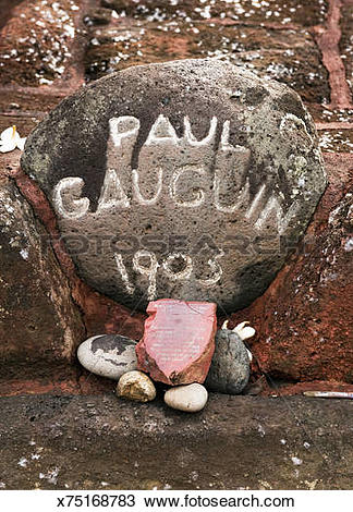 Stock Photo of Grave of Paul Gauguin (detail) x75168783.