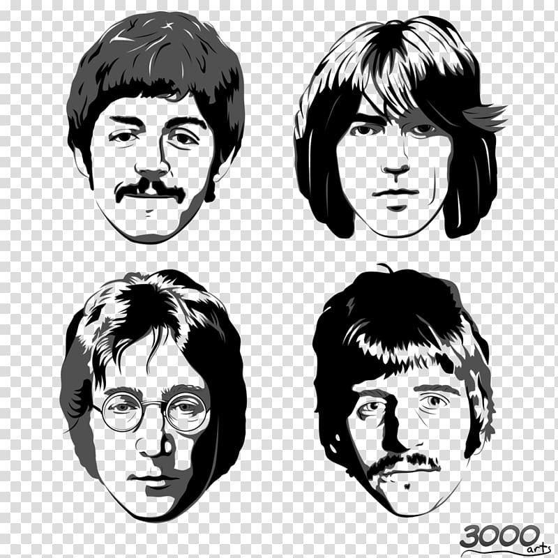 The Beatles illustration, Ringo Starr The Beatles John.
