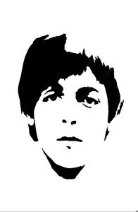 Paul Mccartney Stencil.