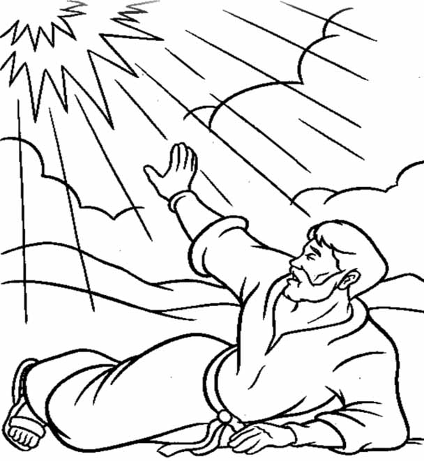 Paul of Tarsus coloring pages.