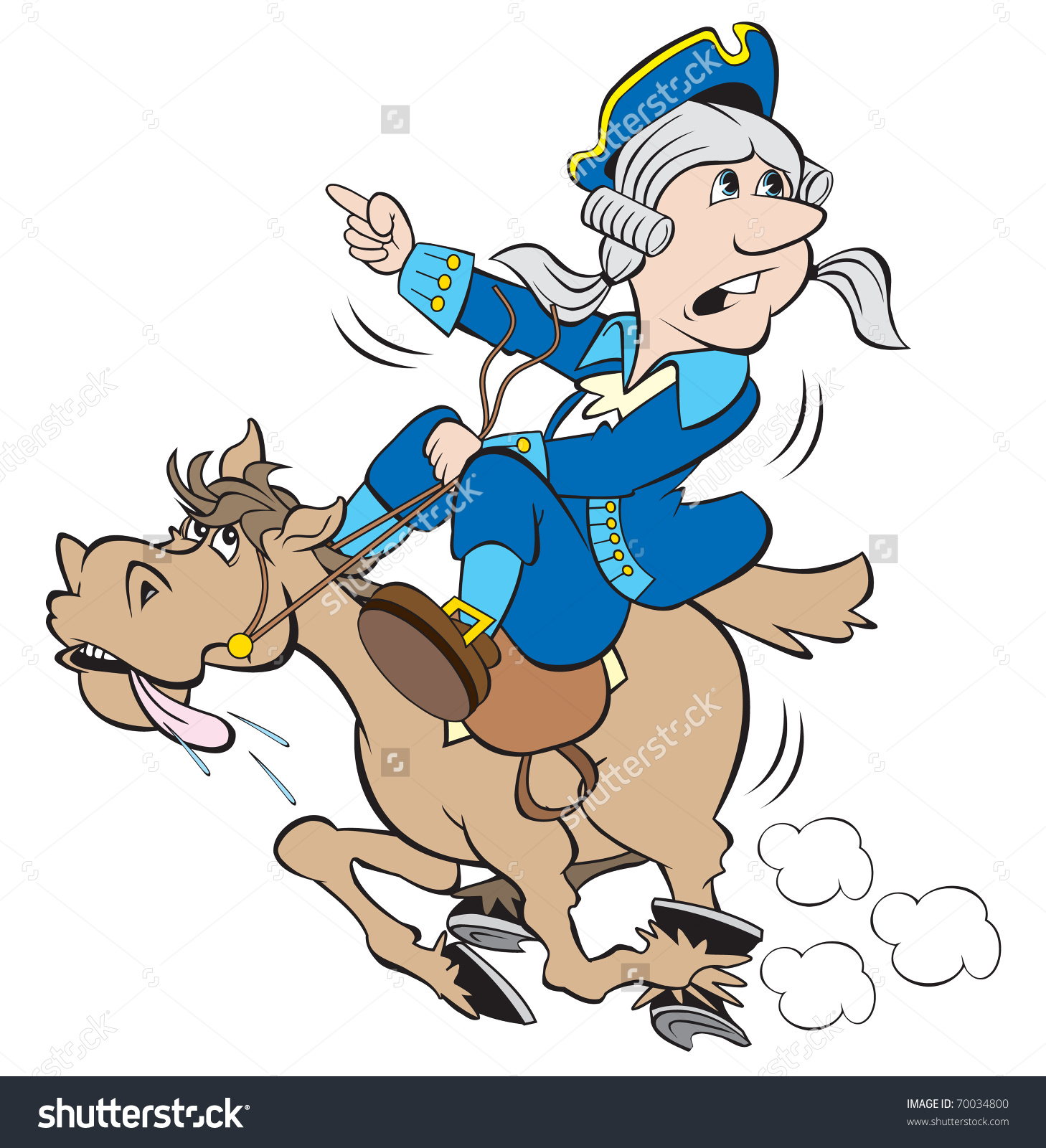 Paul Revere Midnight Ride Clipart.