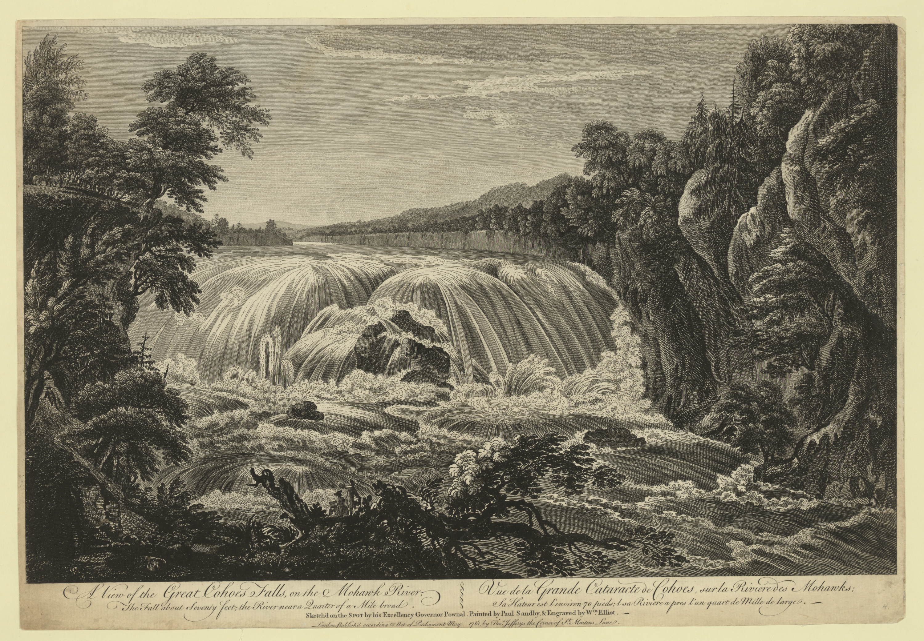 A View Of The Great Cohoes Falls, On The Mohawk River, The Fall.