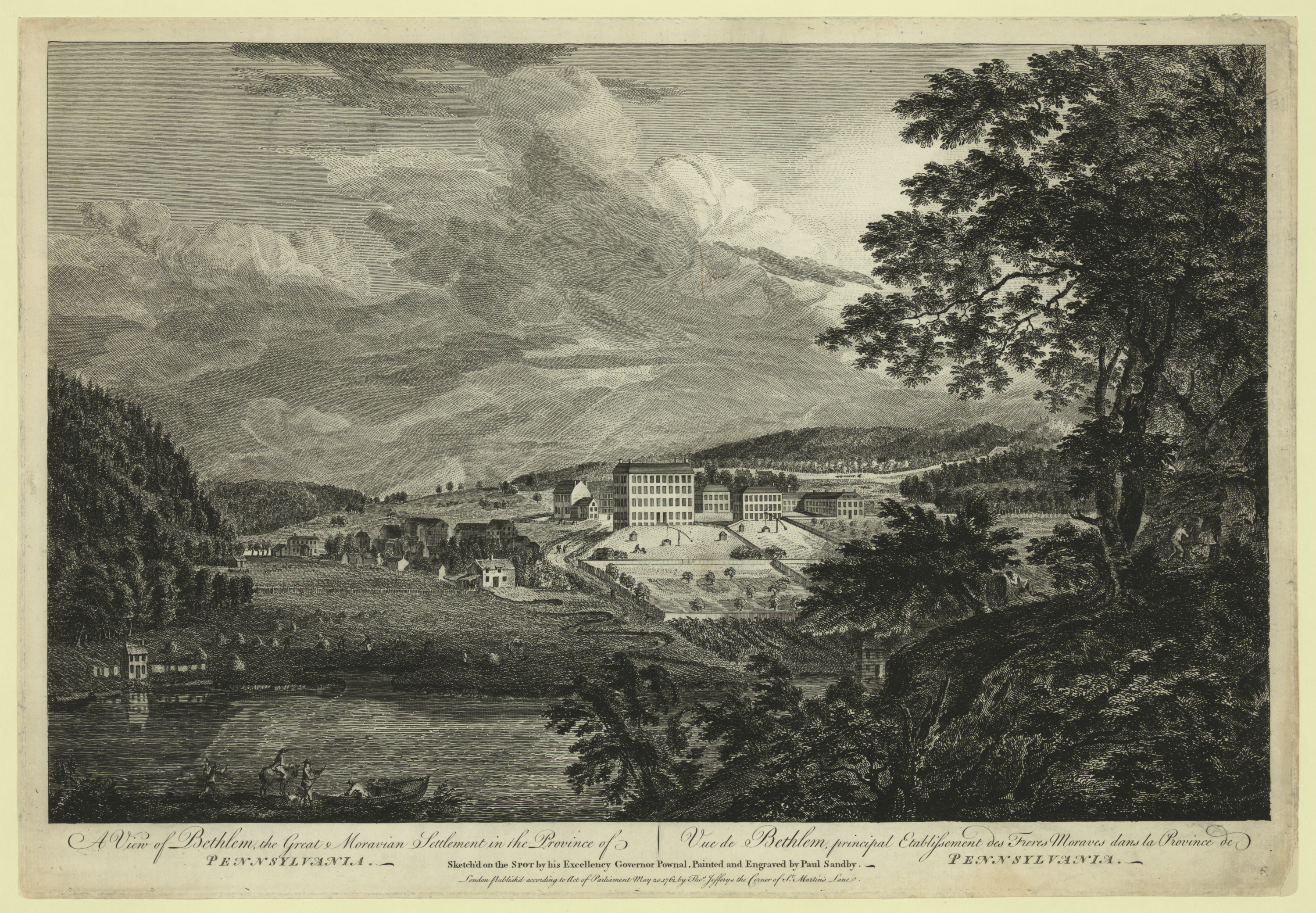 A View Of Bethlem, The Great Moravian Settlement In The Province.