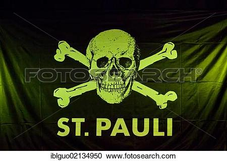 Stock Photography of Skull and crossbones with the lettering St.