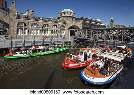 "Stock Photograph of ""Landungsbrucke or St. Pauli Landing Stages."
