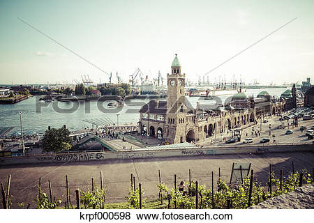 Pictures of Germany, Hamburg, St Pauli Landing Stages krpf000598.