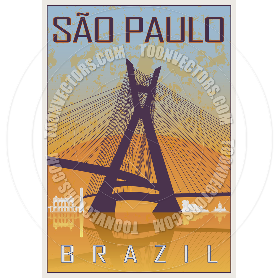 Sao Paulo Vintage Poster by paulrommer.