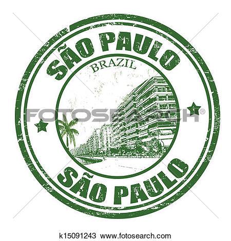 Clipart of Sao Paulo stamp k15091243.