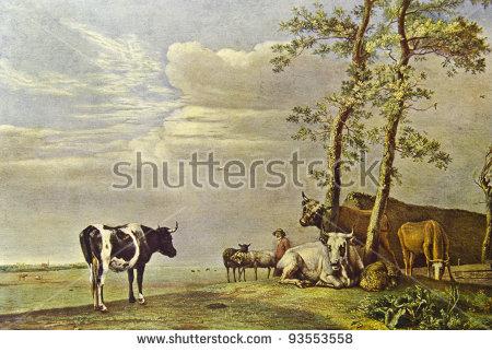 Cow Art Stock Photos, Royalty.