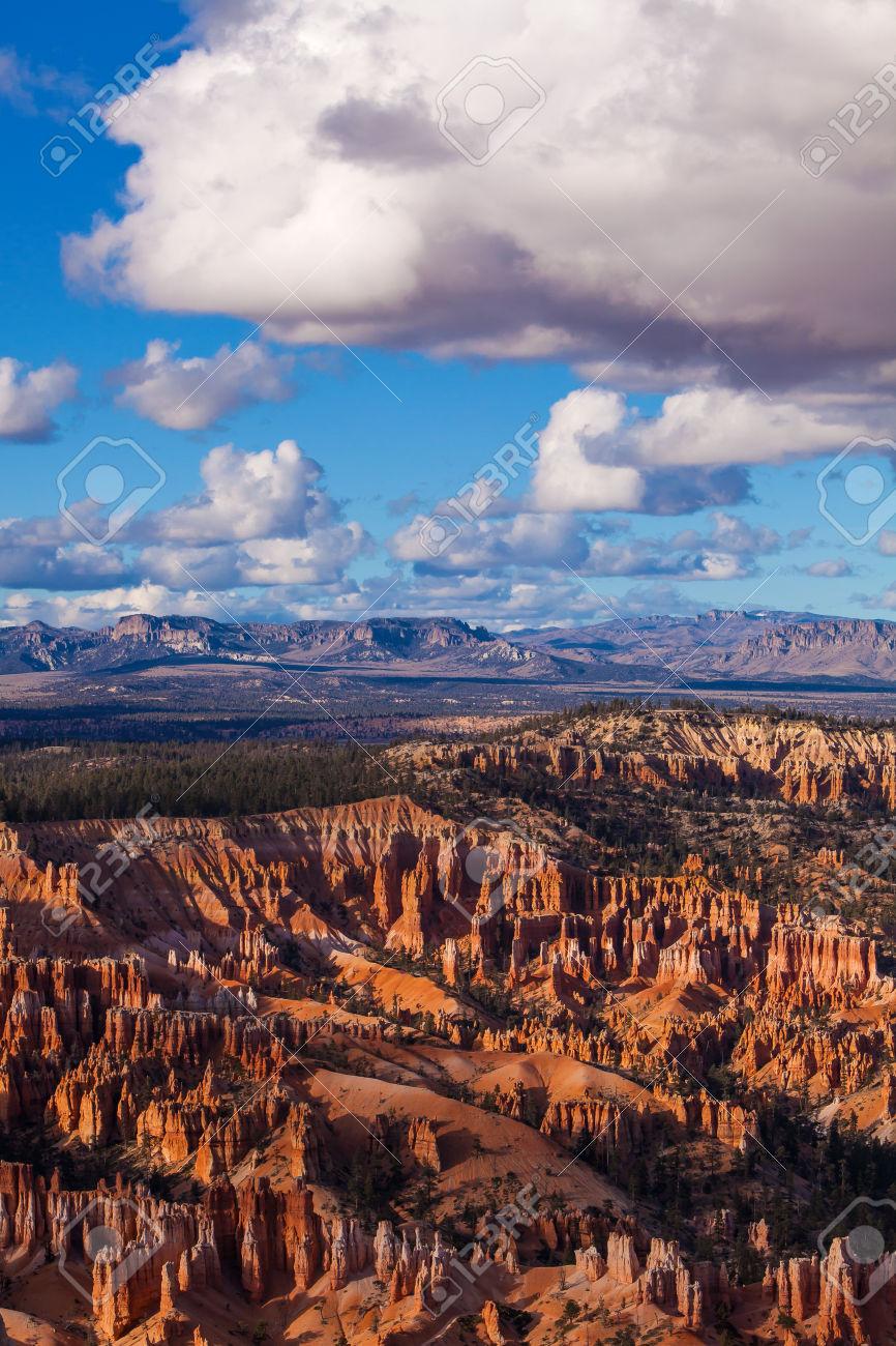 Paunsaugunt Plateau Bryce Canyon National Park Utah Stock Photo.